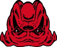 Red Dog Logo Upside Down